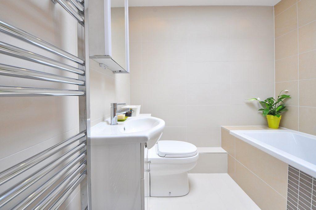 radiator in the modern bathroom